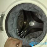 Como cambiar la goma de escotilla de la lavadora