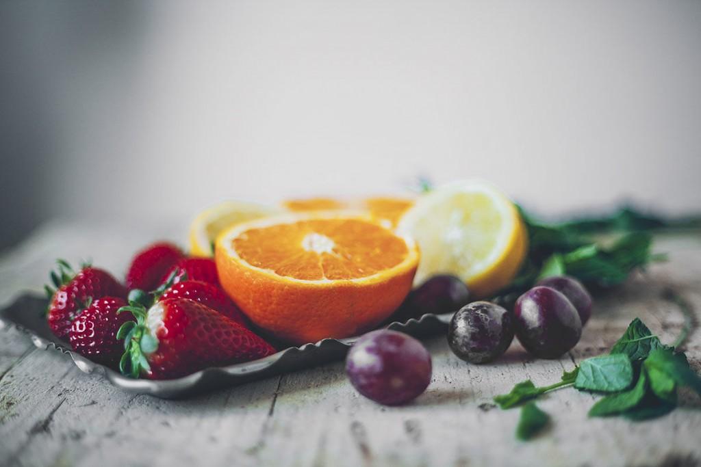 fresa y naranja